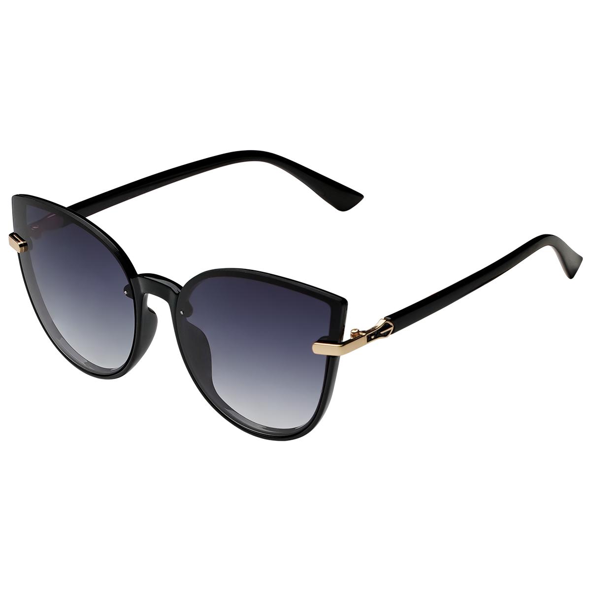 Zonnebril Cat Eye zwart zwarte dames zonnebrillen gouden detail trendy festival brillen musthaves kopen bestellen yehwang