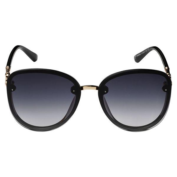 Zonnebril Elegance zwart zwarte dames zonnebrillen gouden details zijkanten trendy festival brillen musthaves kopen bestellen yehwang voor