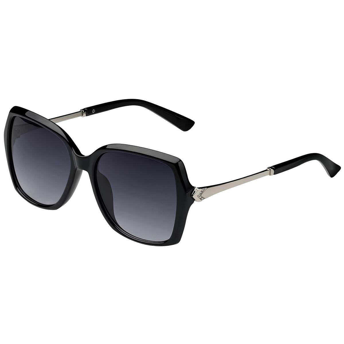 Zonnebril Fancy zwart zwarte dames zonnebrillen zilveren detail zijkanten trendy festival brillen musthaves kopen bestellen yehwang