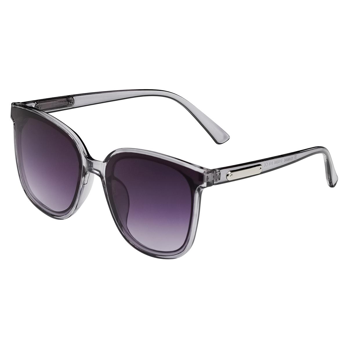 Zonnebril Smooth Love grijs grijze dames zonnebrillen zilveren detail zijkanten trendy festival brillen musthaves kopen bestellen yehwang