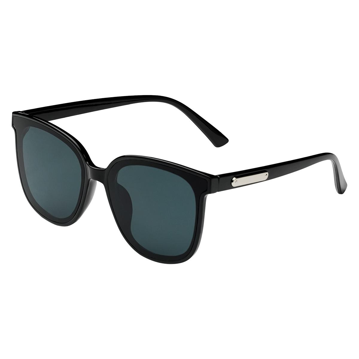 Zonnebril Smooth Love zwart zwarte dames zonnebrillen zilveren detail zijkanten trendy festival brillen musthaves kopen bestellen yehwang