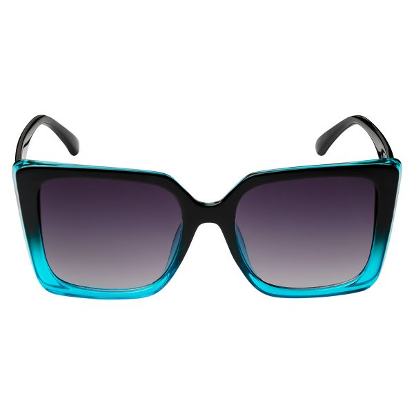 Zonnebril VLTA mint zwart zwarte vierkante dames zonnebrillen vlta tekst zijkanten trendy festival brillen musthaves kopen bestellen yehwang voor