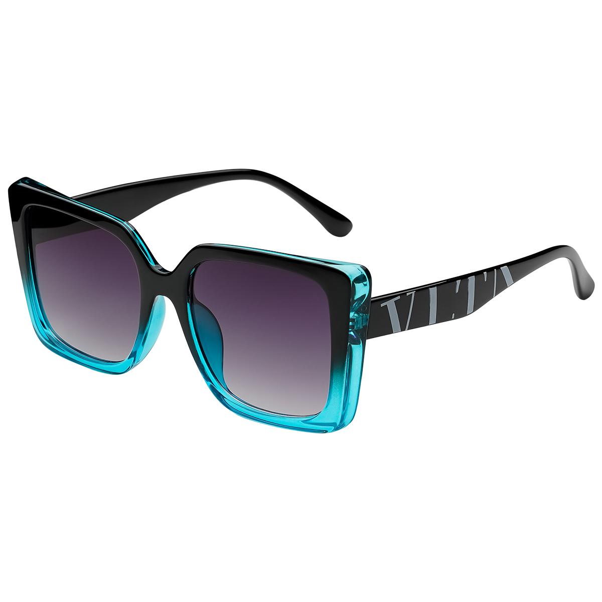 Zonnebril VLTA mint zwart zwarte vierkante dames zonnebrillen vlta tekst zijkanten trendy festival brillen musthaves kopen bestellen yehwang