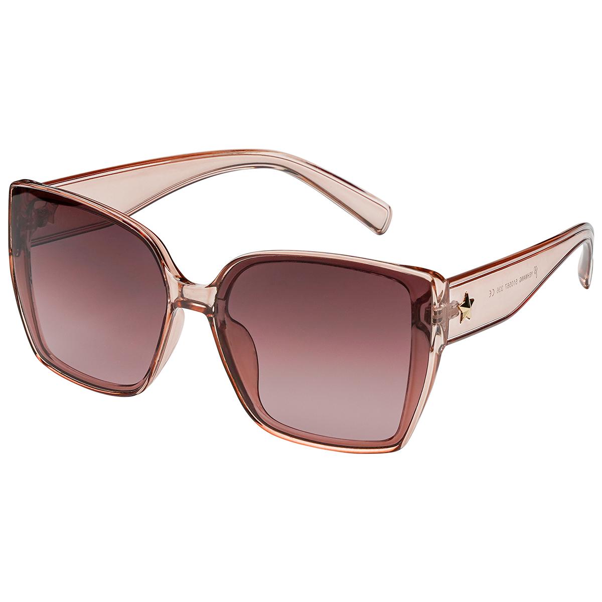 Zonnebril ster oud roze pink vierkante dames zonnebrillen ster stud zijkanten trendy festival brillen musthaves kopen bestellen yehwang