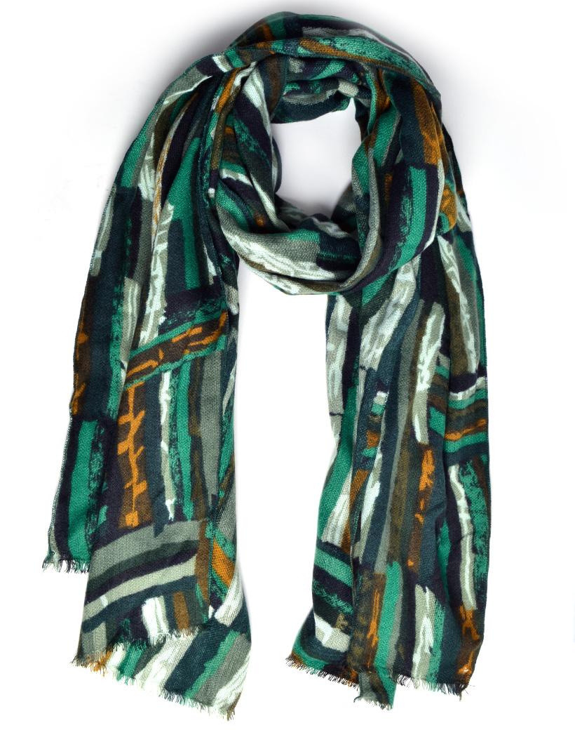 Sjaal Abstract groen groene lange warme dames sjaals trendy sjaals kopen bestellen