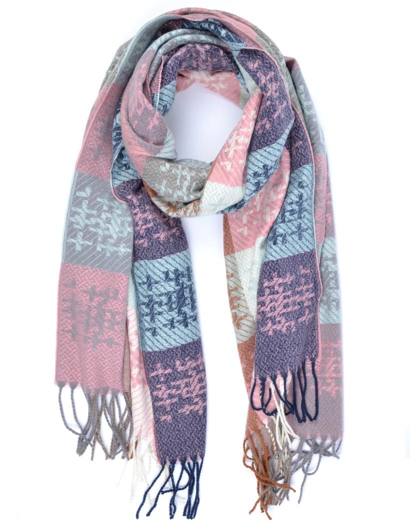 Sjaal Cute WInter mint roze lange warme dames sjaals trendy sjaals kopen bestellen