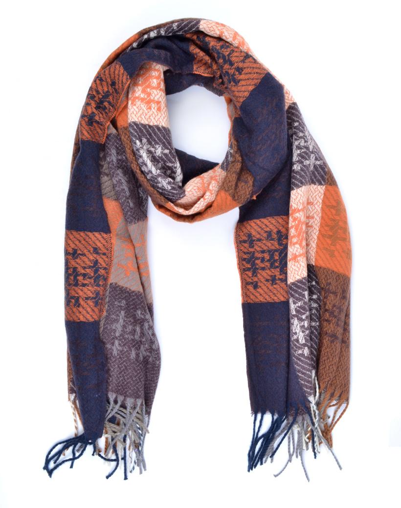 Sjaal Cute WInter oranje blauw lange warme dames sjaals trendy sjaals kopen bestellen