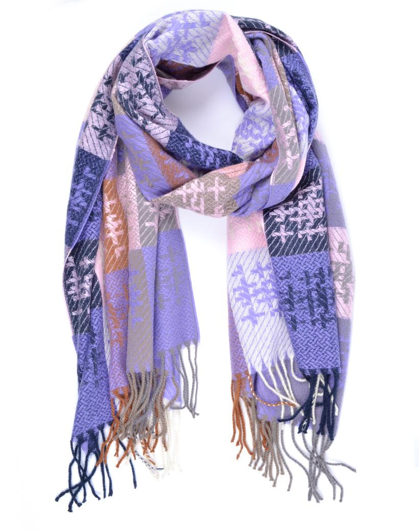 Sjaal Cute WInter paars paarse roze lange warme dames sjaals trendy sjaals kopen bestellen