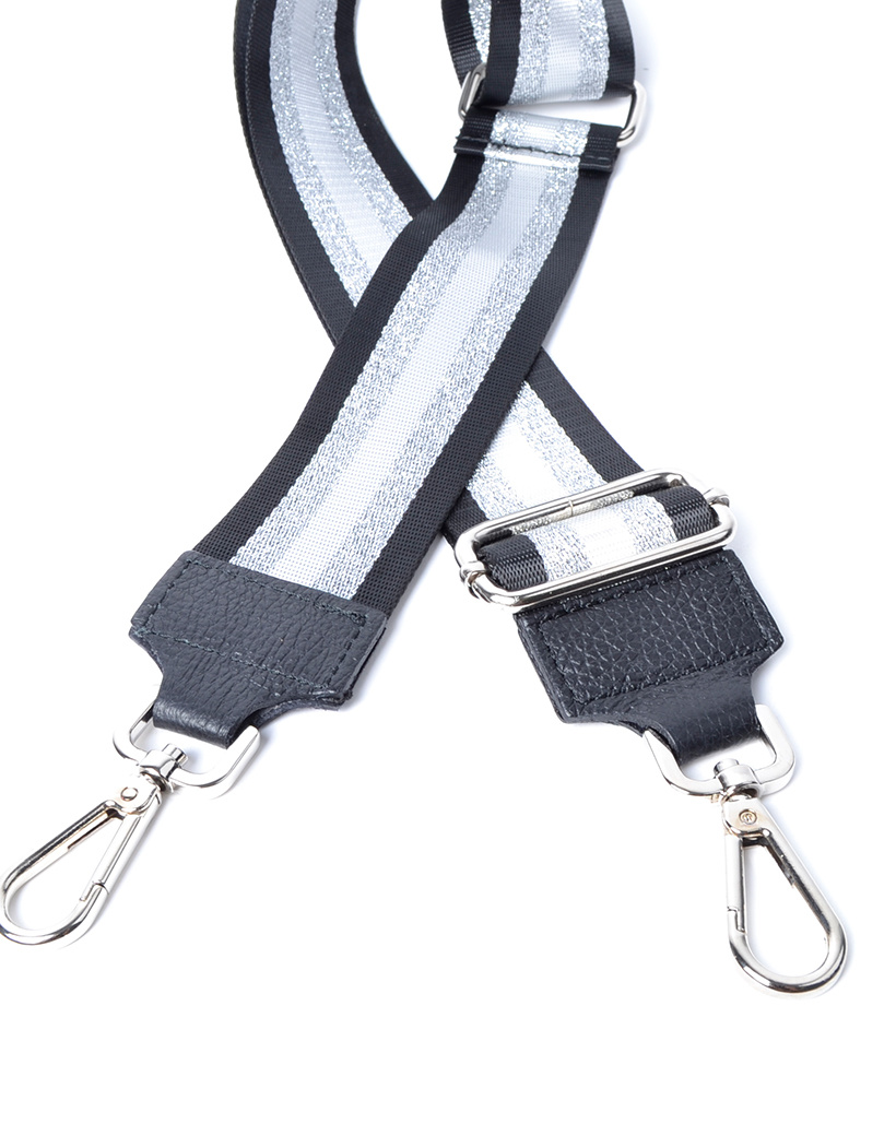Tassenhengsel Special Lines zwart zilver leer leren tassenhengsels losse hengsels kopen bestellen bagstraps giuliano