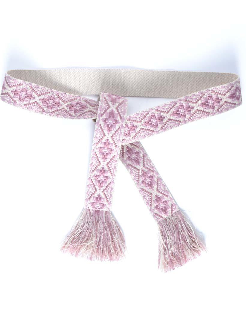 Wikkelriem Carpet lila roze print omslagriemen-boho-riemen-dames-wikkelriemen-ceinturen-handgemaakte-katoenen-riemen-gekleurde-print-trendy