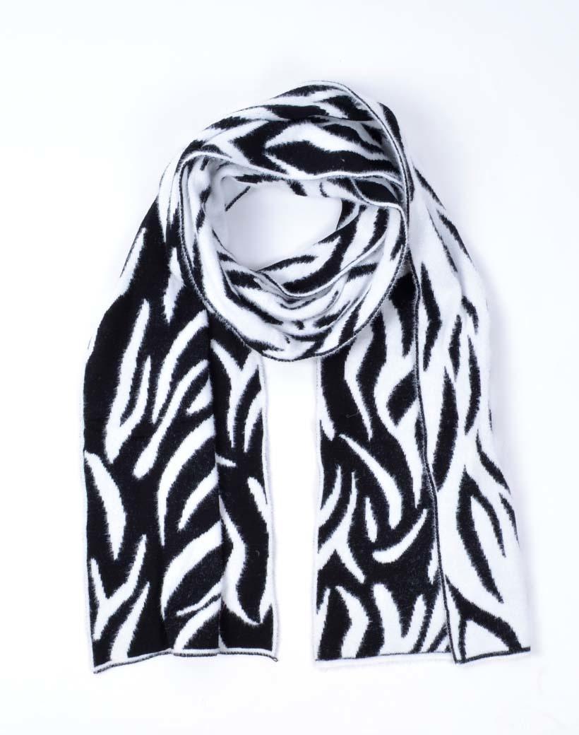 Sjaal Fancy Zebra zwart zwarte print trendy warme sjaals omslagdoeken winteraccessoires kopen bestellen