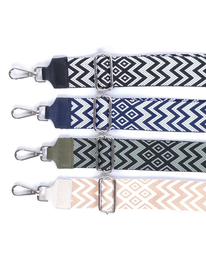 Tassenhengsel-Aztec- zwart zwarte blauw blauwe leer-leren-tassenhengsels-losse-hengsels-kopen-bestellen-bagstraps-giuliano