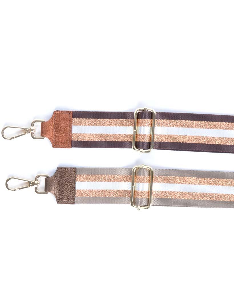 Tassenhengsel-Special-Lines-Metallic brons-taupe bruin-leer-leren-tassenhengsels-losse-hengsels-kopen-bestellen-bagstraps-giuliano