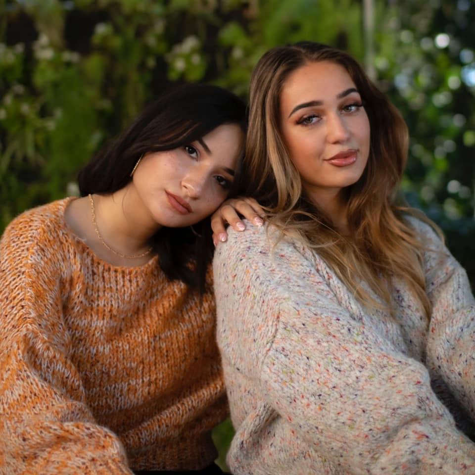 Trui Billy oranje camel wit trendy multi garen dames truien sweaters kopen bestellen winter kleding warme leuke trui