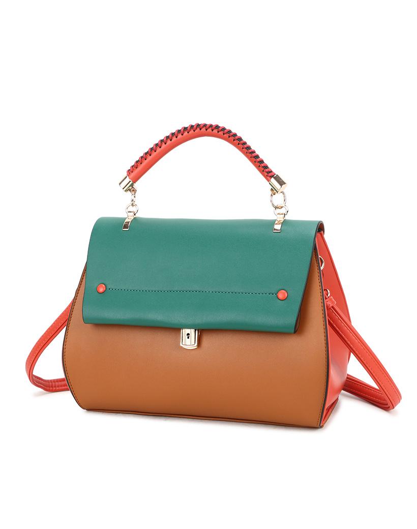 Handtas My Lady oranje mint bruin tas tassen fashion trendy musthave it bags giuliano kopen bestellen side