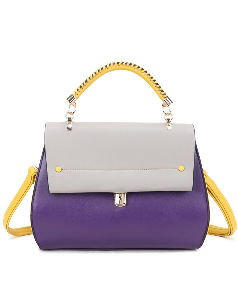 Handtas My Lady paars lila geel tas tassen fashion trendy musthave it bags giuliano kopen bestellen