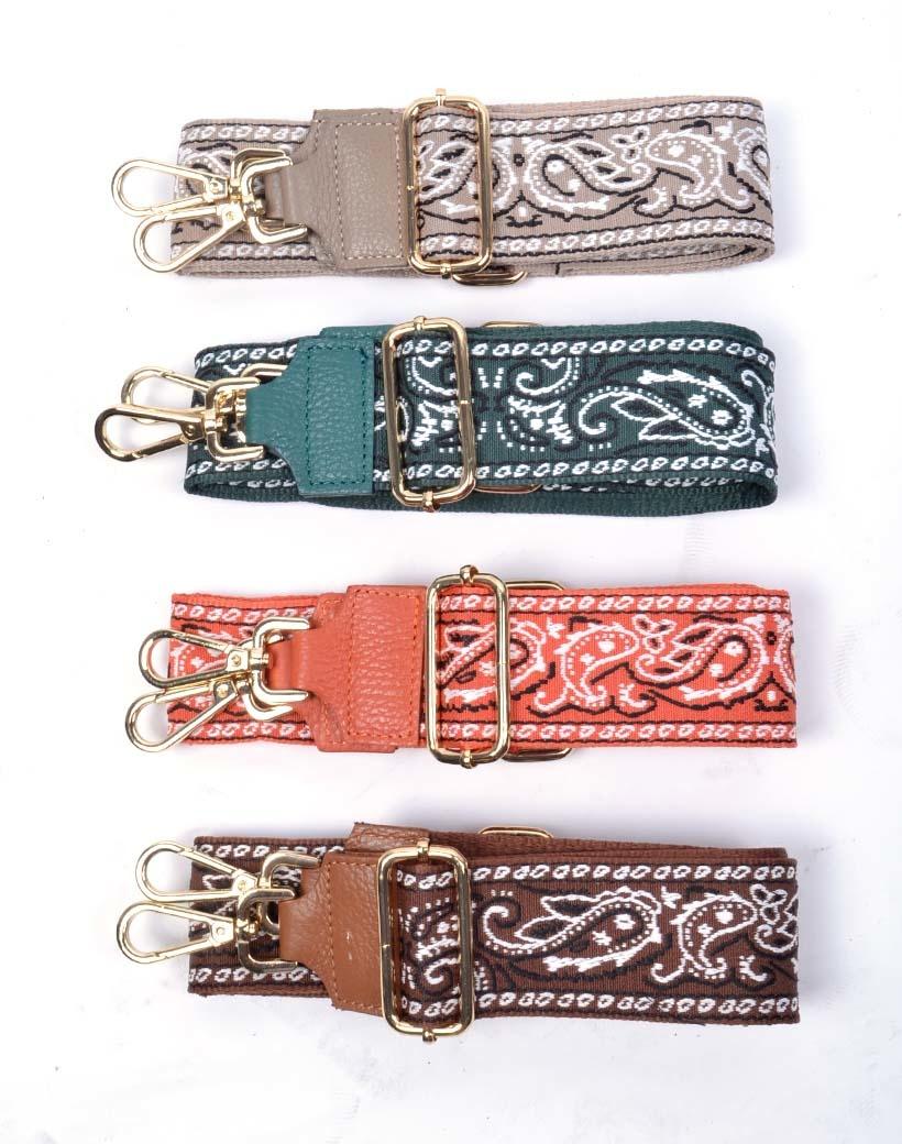 Tassenhengsel Paisley meerdere kleuren verstelbare bagstraps tas hengsels schouderbanden kopen losse trendy fashion hengsels kopen bestellen
