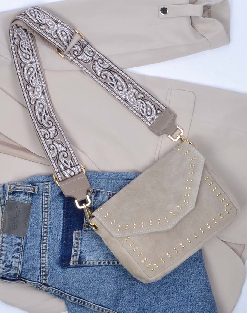 Tassenhengsel Paisley taupe meerdere kleuren verstelbare bagstraps tas hengsels schouderbanden kopen losse trendy fashion hengsels kopen bestellen