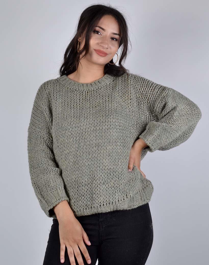 Trui Trendy Knit groen groene dames truien warme winter kleding sweaters trui kopen bestellen .jpg
