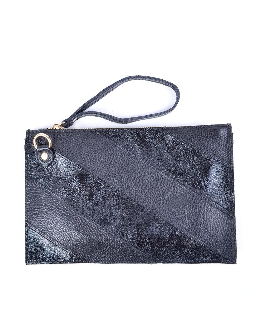 lederen Clutch Rainbow Metallic-Black-zwart-zwarte-look-a-like-it-bags-giuliano-bestellen-kopen-schoudertas tassen trendy tassen polsbandje kopen bestellen